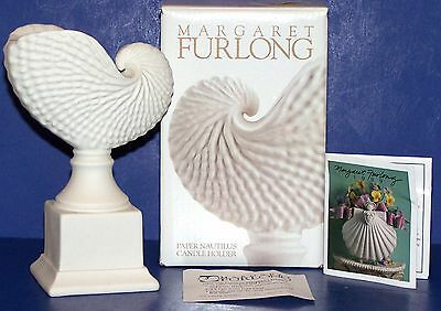 "Lovely 1999 Margaret Furlong 5 1/2""  Paper Nautilus Candle Holder In Box"