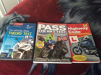 Mixed Bundle Of Bike Test Books And Dvd