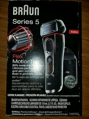 Braun Series 5 5090cc Flex MotionTec Electric Shaver w/ Cleaning Station NEW