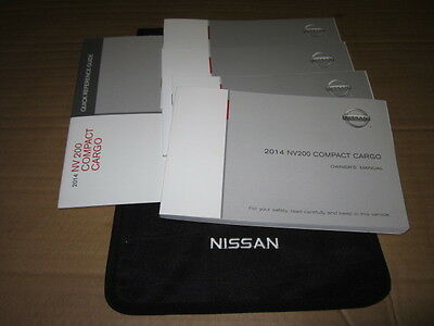 2014 Nissan Nv200 Compact Cargo Owners Manual  (Oem)          - J1151