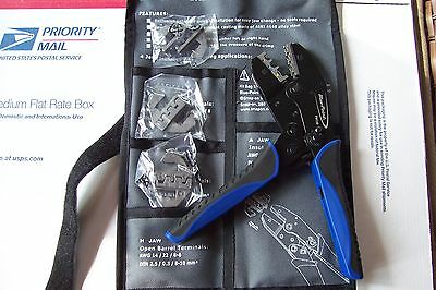 New Blue Point Ratcheting Terminal Crimper Pliers With Quick Change Jaws