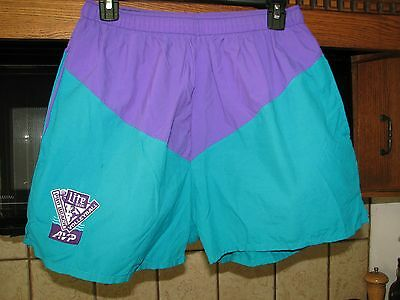 AVP Pro Beach Volleyball Lite Beer vintage athletic beach shorts 1990s 1980s