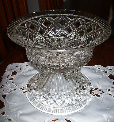 Lovely Vintage Pressed Glass Two Piece Centrepiece Bowl