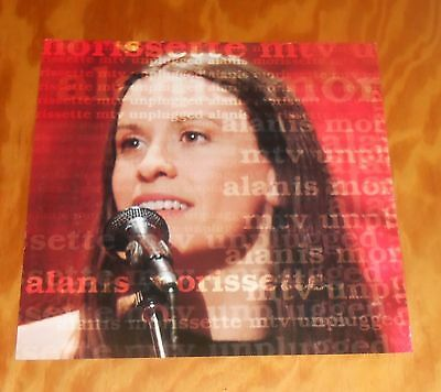 Alanis Morissette MTV Unplugged Poster 2-Sided Flat 1999 Promo 12x12