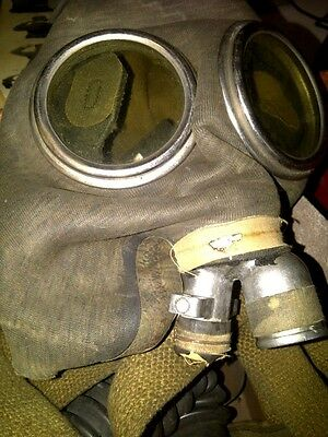 Antique MSA Ammonia Mining Gas Mask w/ Canister and Box!! (Steampunk Industrial)