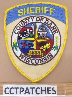 Dane County, Wisconsin Sheriff (Police) Shoulder Patch Wi