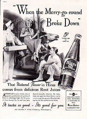1937 Hires Root Beer ad --Merry -Go-Round ---=435