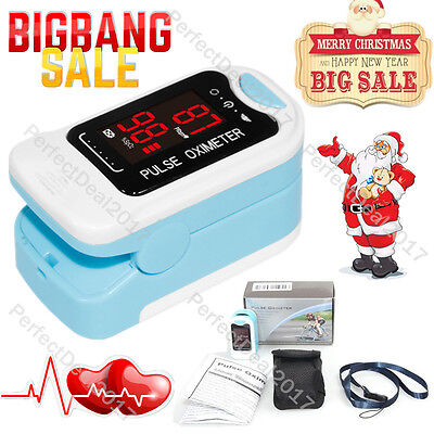 Fingertip Pulse Oximeter CMS50M Blood Oxygen Saturation Monitor with CarryCase
