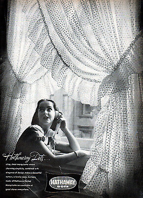 1947 Hathaway Dots Curtains Ad --Dotted Marquisette -k528