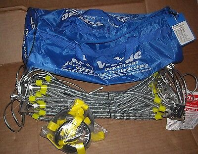 Glacier V-Trac Diagonal Cable Tire Snow Chains, Stock # A2119 - Never Used