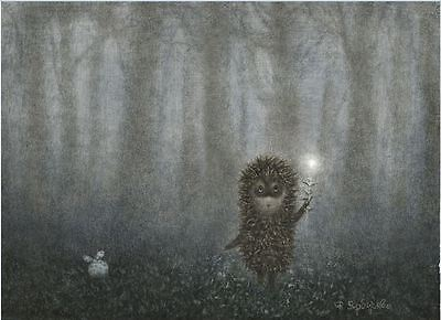 Hedgehog in the Fog Y.Norstein's animation hand-signed Giclée (Hedgehog&Firefly)