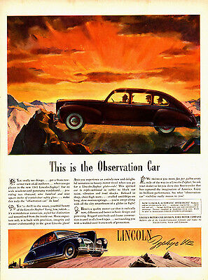 1941 Lincoln Car Ad -Automatic Overdrive --x319