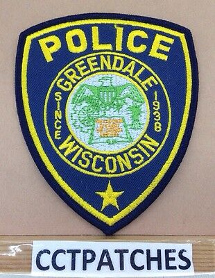 Greendale, Wisconsin Police Shoulder Patch Wi