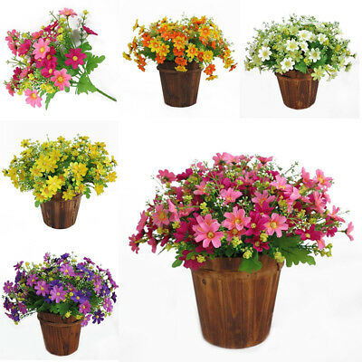 1 Bunch Artificial Fake Silk Daisy Flower Bouquet Home Wedding Party Decoration
