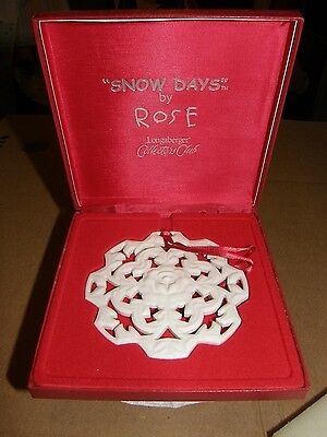 Longaberger 2005 Christmas Ornament Snowflake Snow Days by Rose Collector's Club