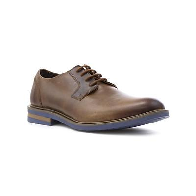 Catesby Mens Real Brown Leather Lace Up Shoe - Sizes 7,8,9,10,11,12