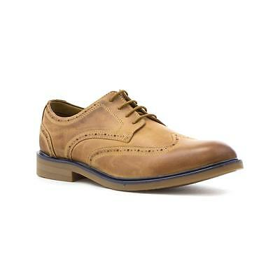 Catesby Mens Tan Leather Lace Up Brogue Shoe - Sizes 7,8,9,10,11,12
