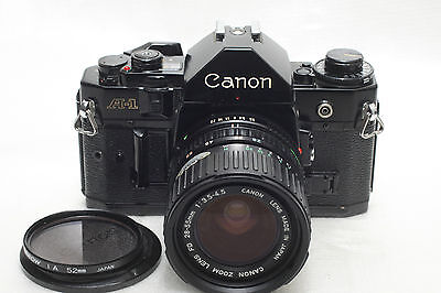Canon A-1 film Camera Black w/ FD 28-55mm Zoom lens *Excellent*