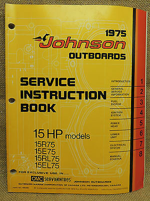 1975 Johnson Seahorse Service Repair Manual 15 HP 15R75 15E75 15RL75 15EL75