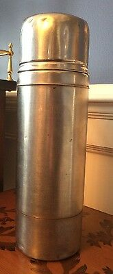 Vintage Stainless Steel 36 Oz. Thermos-Quart Size-Hot Or Cold-Model 2460S