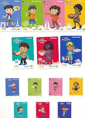 Woolworths World Explorers Cards or Stickers.  Easy To Buy. *Combined Shipping.*
