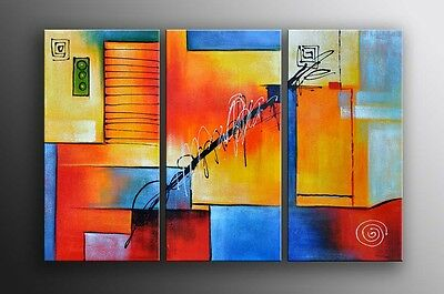 Framed Oil Painting Modern Abstract Textured Wall Art - Ready to hung Last 1