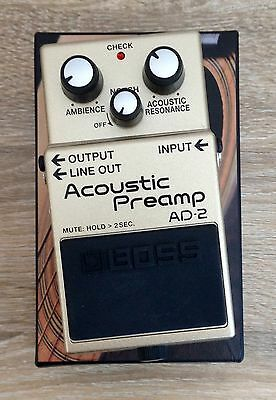 BOSS AD-2 Acoustic Preamp Pedal DI box Reverb Enhancer