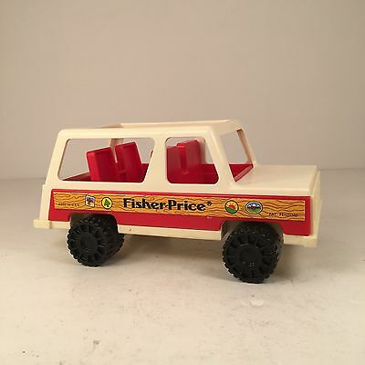 Vtg 1979 Fisher Price Little People Jeep Station Wagon #992