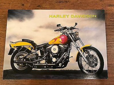 Harley Davidson Motorcycles Advertisement Postcard