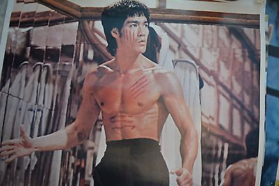 SELLING MY BRUCE LEE COLLECTION! POSTERS WITH CHARACTER! WELL USED FROM MID 80's