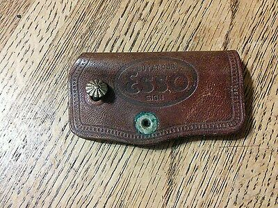 Vintage Esso Leather Key Case