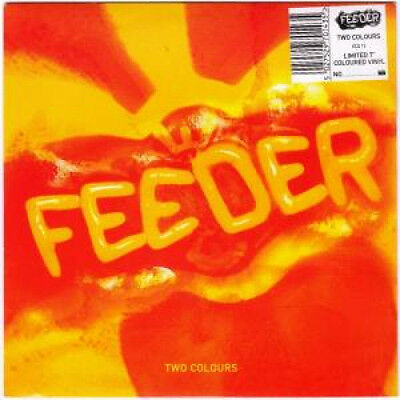 """FEEDER Two Colours 7"""" VINYL UK Echo 1995 Very Limited Clear Vinyl Featuring"""