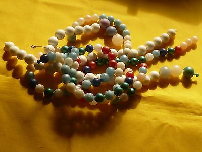 """Pop Beads Assorted Colors & Sizes Vintage Plastic 52"""" Total Crafts Jewelry Retro"""