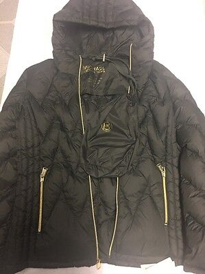 Micheal Kors Women's Down Filled  Puffer Jacket Quilted Hooded Coat Sz Large