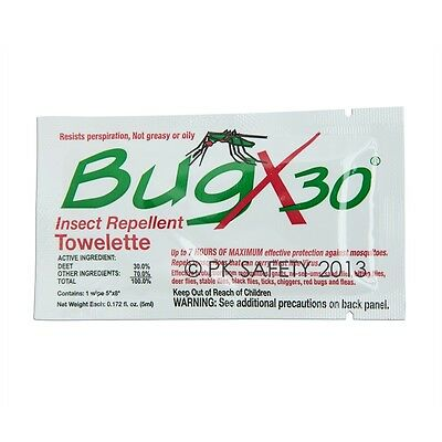 Coretex Bug X Insect Repellent Towelette, Comes in Foil Pack