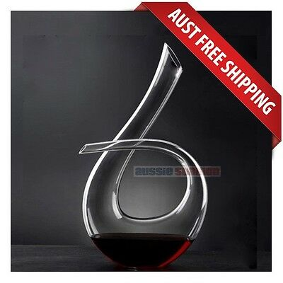Flow Crystal Wine Decanter, Handmade Mouth Blown, Brand New, Free Shipping!