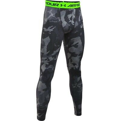 Legging de compression Under Armour Heatgear imprimé camo jaune pour homme