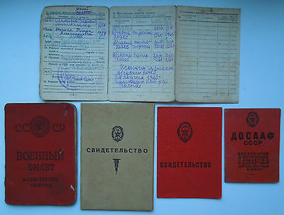 Lot Ussr Soviet Personal Army 5 Document , Original!!!