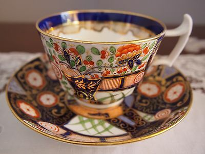 Beautiful Royal Crown Derby Style Hand Painted Imari Cup and Saucer