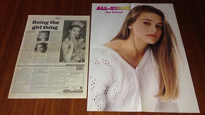 ALICIA SILVERSTONE CLIPPINGS Clueless Excess Baggage Miss Match + RARE POSTER