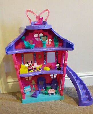 Minnie Mouse polka dot house excellent condition