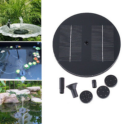 New Solar Panel Power Fountain Kit Pool Garden Pond Watering Submersible Pump #L