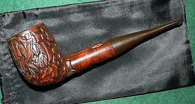Vintage 'Real Briar' Tobacco Pipe & Cover. Used. Solid Condion.