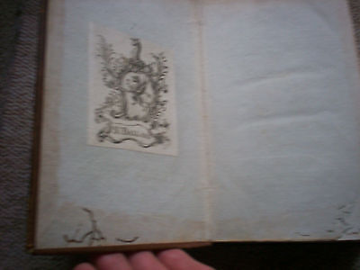 Shakspeares Tragedies.1 Volume  Only From 1789/91 Bookplate. 5 Plays. Illustrted