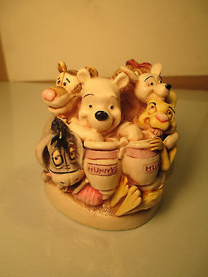 """Harmony Kingdom """"Pooh and Friends,"""" Made in England, Disney Collection"""