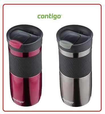 ❤ Contigo Byron SNAPSEAL Travel Mug coffee mug Stainless Steel Flask 473ml BPA ❤