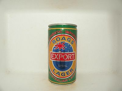 BOAGS EXPORT LAGER 375mL EMPTY BEER CAN AUTHENTIC IMPORTED