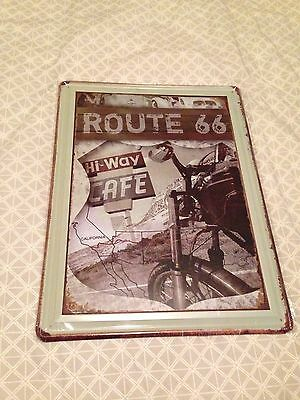 Route 66 Hiway Cafe Tin Sign, Great for man cave, workshop etc 40x30cm