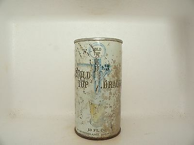 Gold Top Draught 13 Fl Oz Straight Steel Empty Beer Can