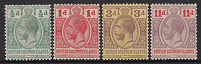 BR. SOLOMON IS.   1913   KGV  Set/4   SG 18/21   mlh ~ CV $15
